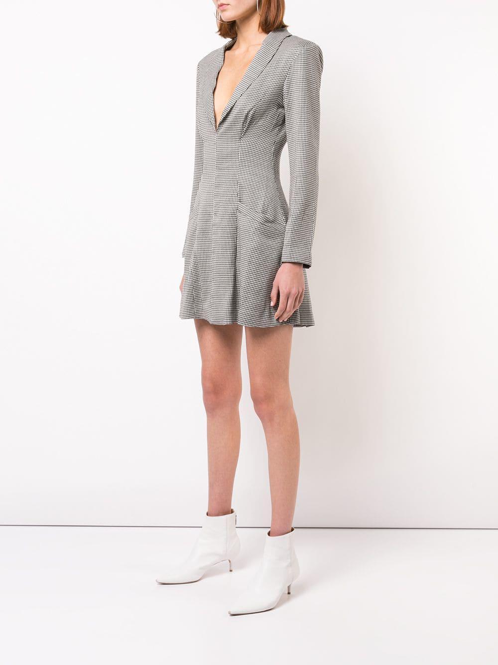 487907e5b8107 Miaou Checked Blazer Dress in Black - Lyst