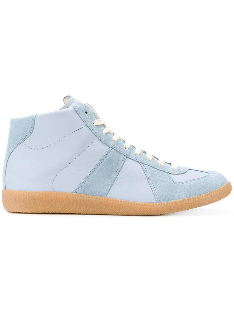 93c029aa08e2 Lyst - Maison Margiela Replica Hi-top Sneakers in Blue for Men