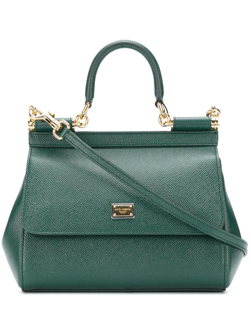 Lyst - Dolce   Gabbana Small Sicily Bag in Green c18166ba67647