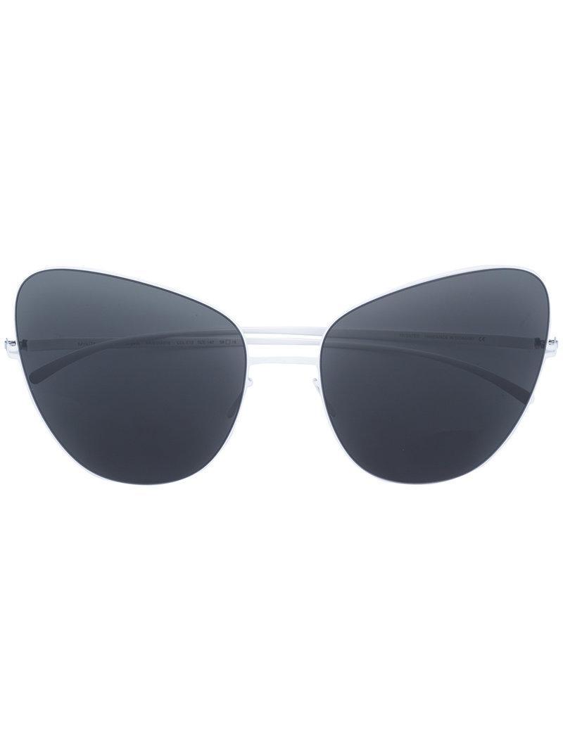 Lyst - Gafas de sol de x Maison Margiela Mykita de color Blanco 5a25b55146ac