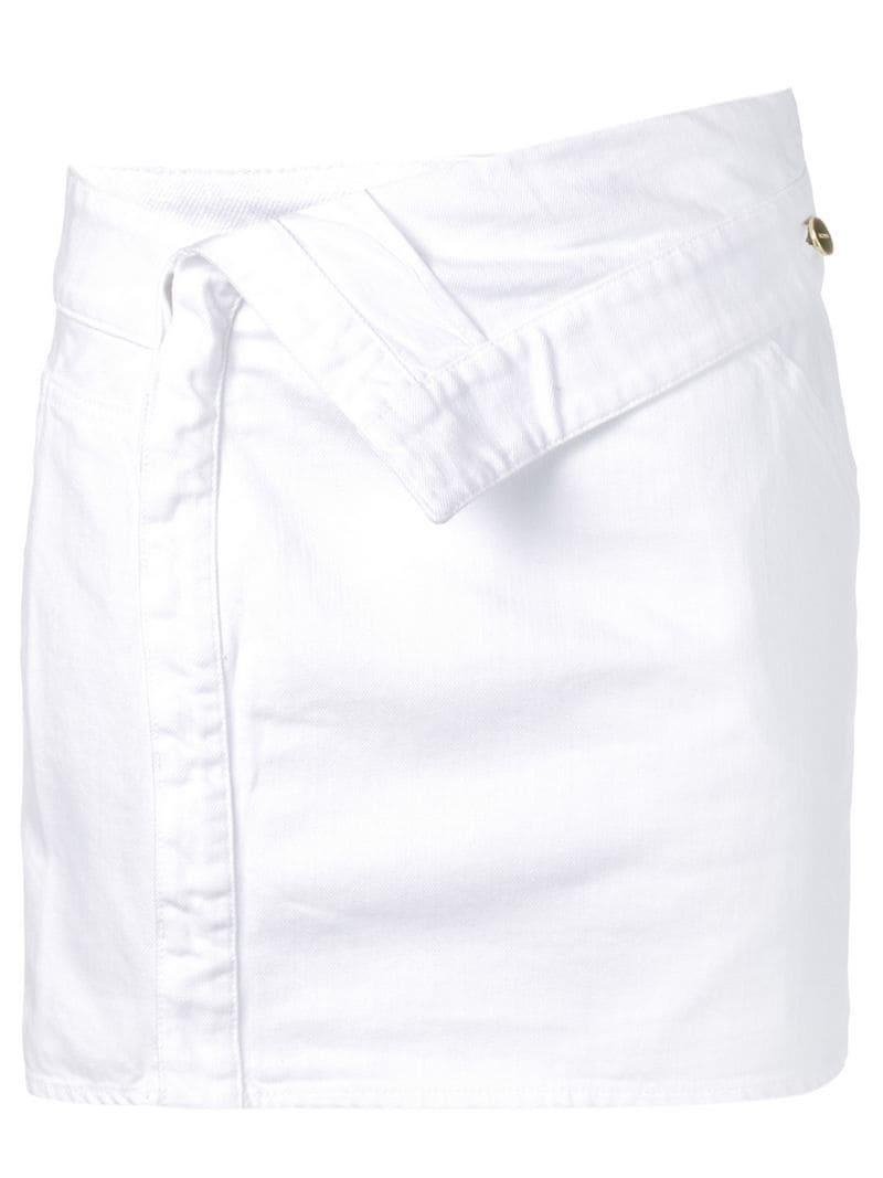 3a25f6883 Lyst - Jacquemus Jean Mini Skirt in White