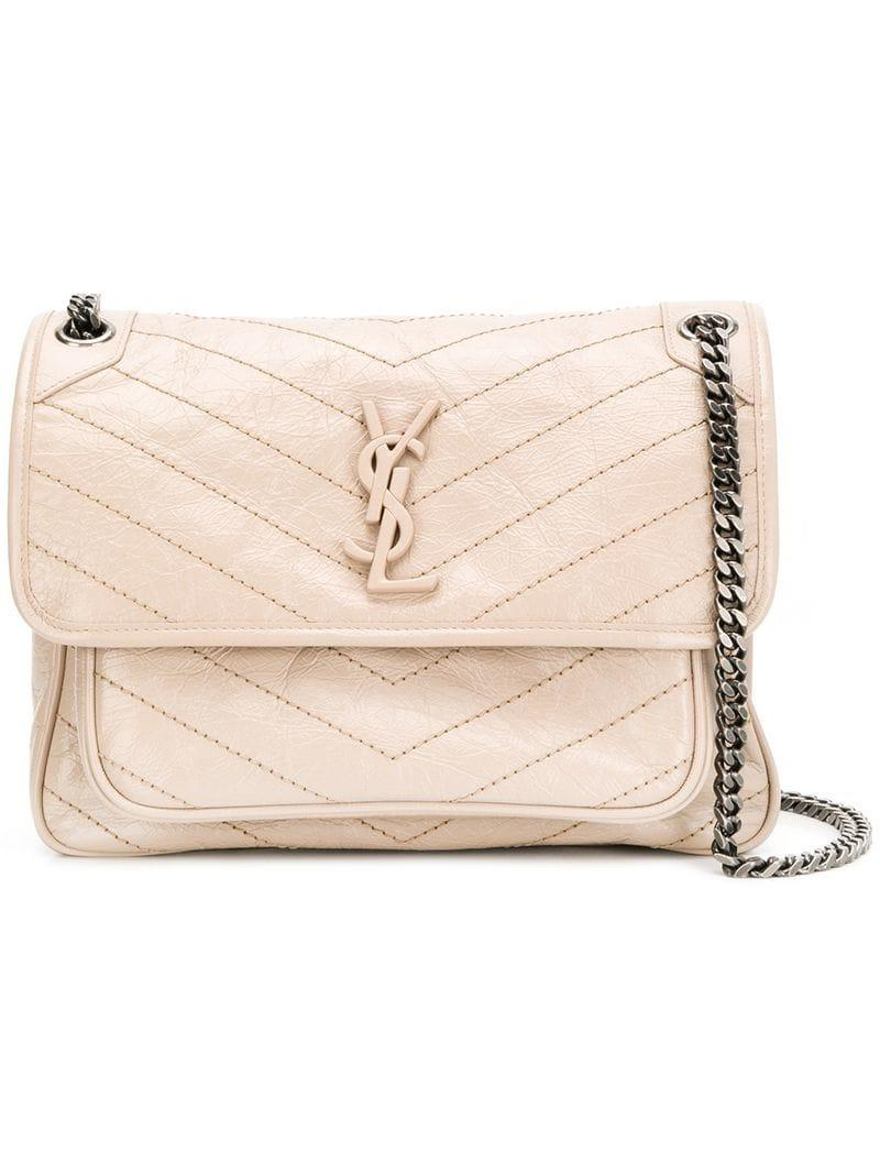 5032c5efbd45 Saint Laurent Baby Niki Shoulder Bag in Natural - Lyst