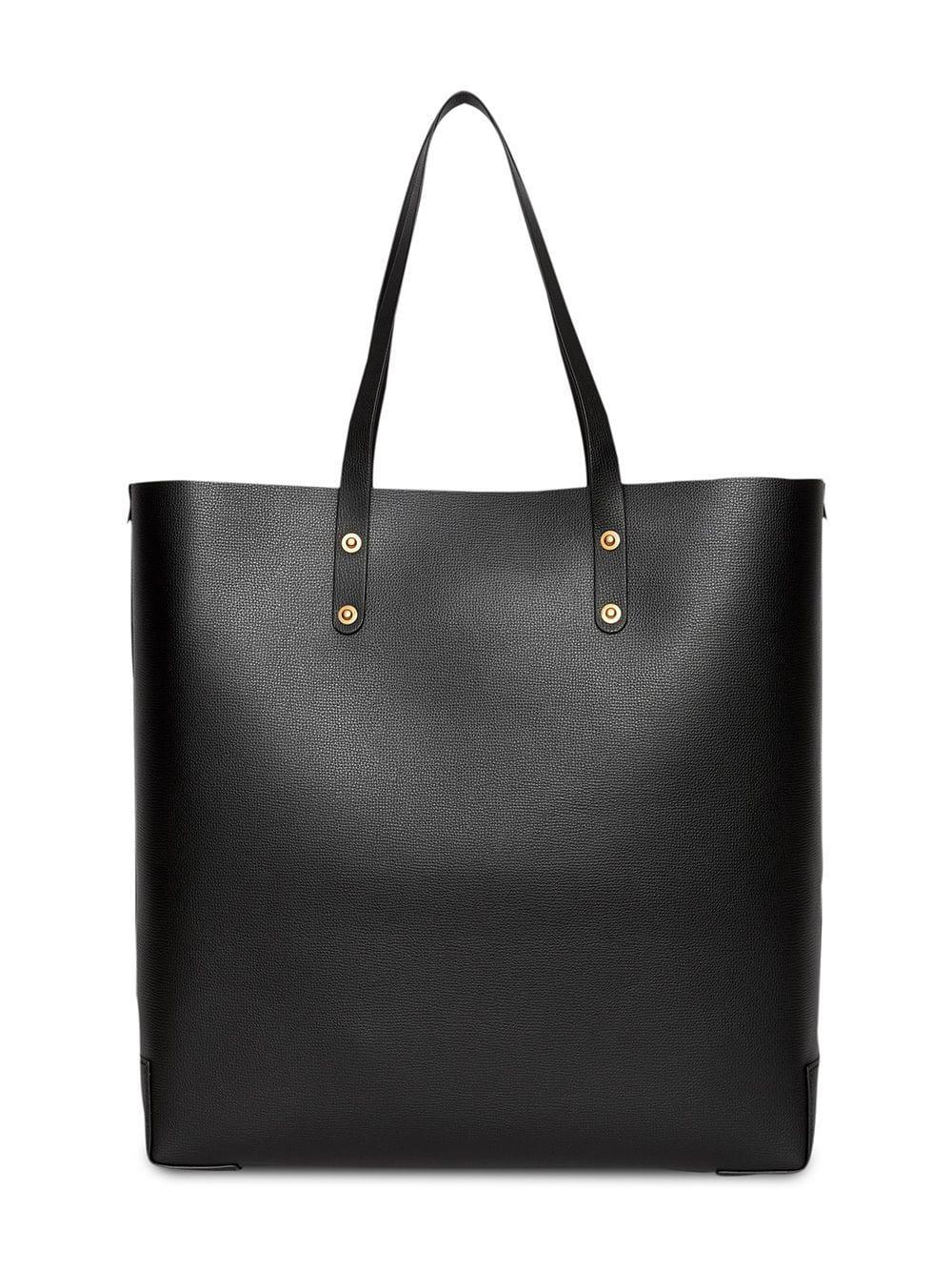 Burberry - Black Embossed Crest Leather Tote - Lyst. View fullscreen d39fdb7c55f1f