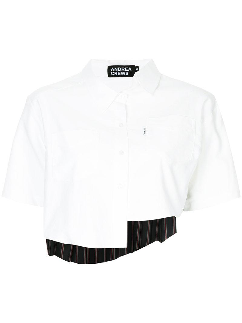 Andrea Crews asymmetric button shirt Shop Online Sexy Sport Free Shipping Outlet Locations lqu09rly7