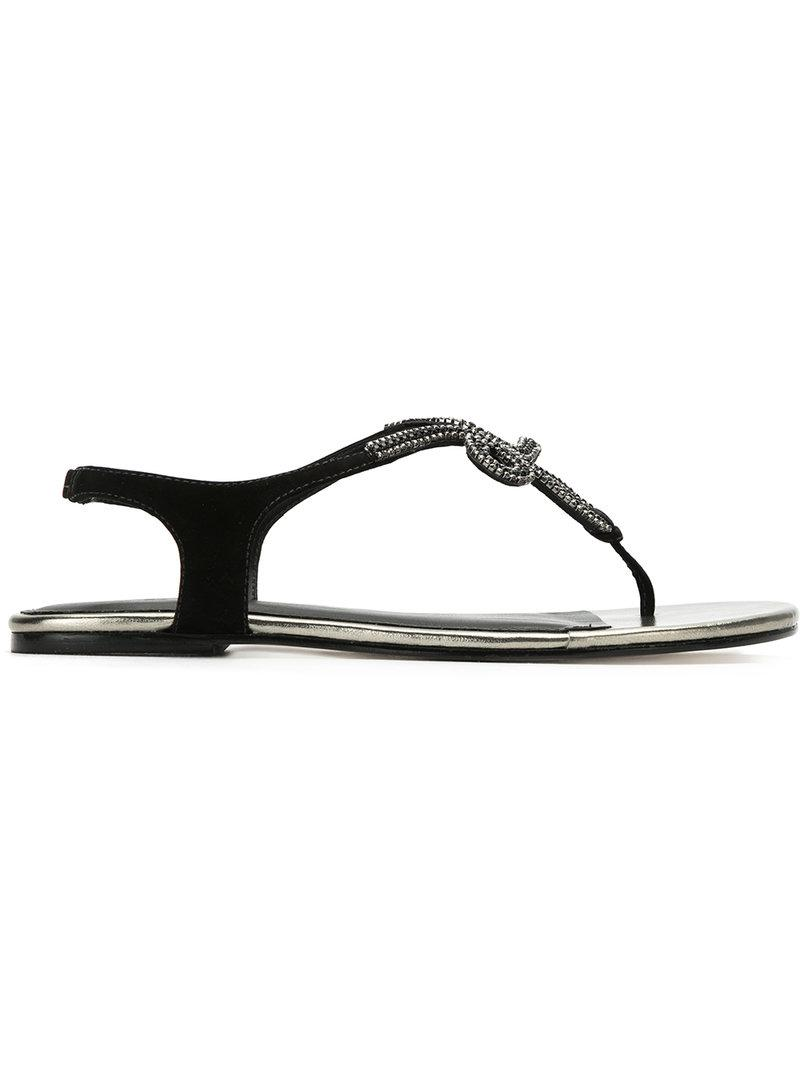 embellished flat sandals - Black Mara Mac Cheap Sale Get Authentic Discount Outlet Locations Discount Codes Shopping Online Free Shipping Shop For hHzFY