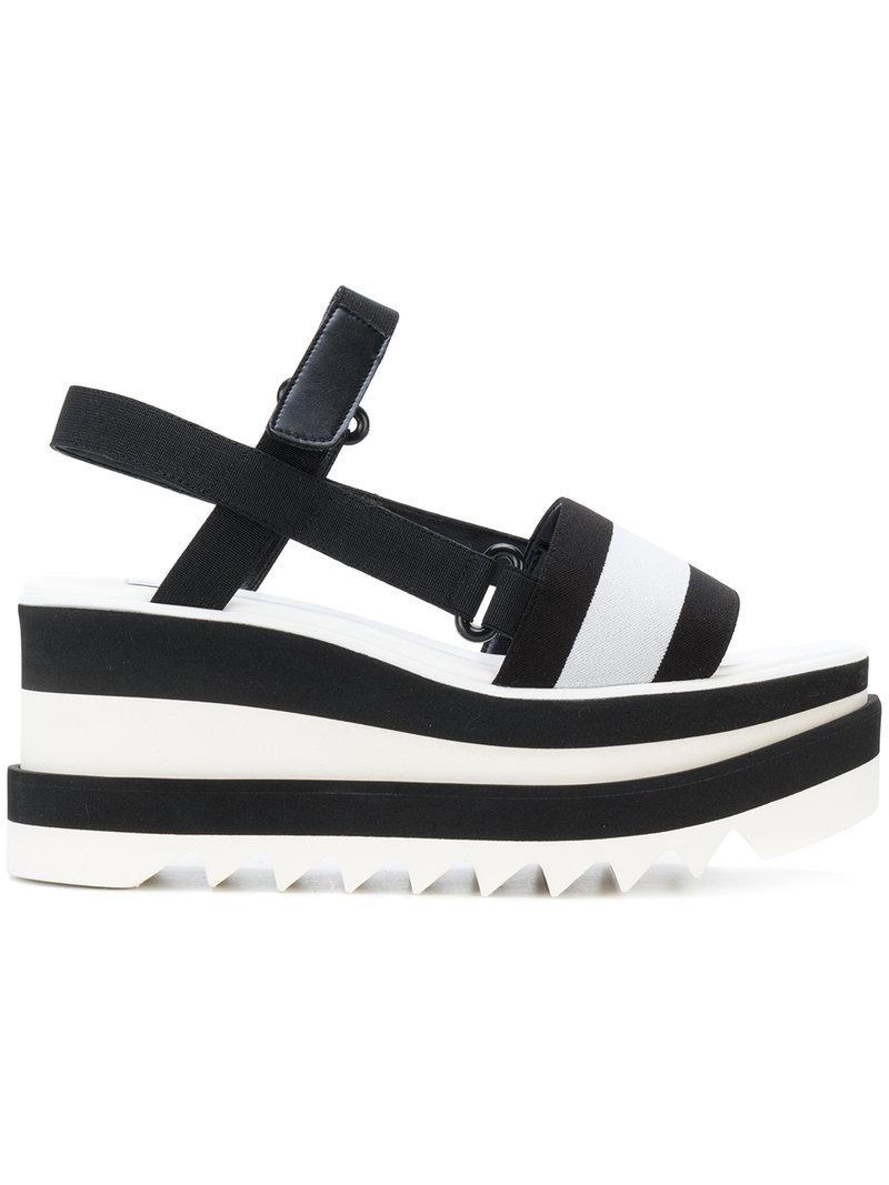 2e1535d801e Lyst - Stella Mccartney Elyse Platform Slingback Sandals in Black
