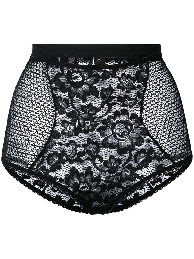 02aa8f4fff Else Petunia High Waisted Briefs in Black - Lyst