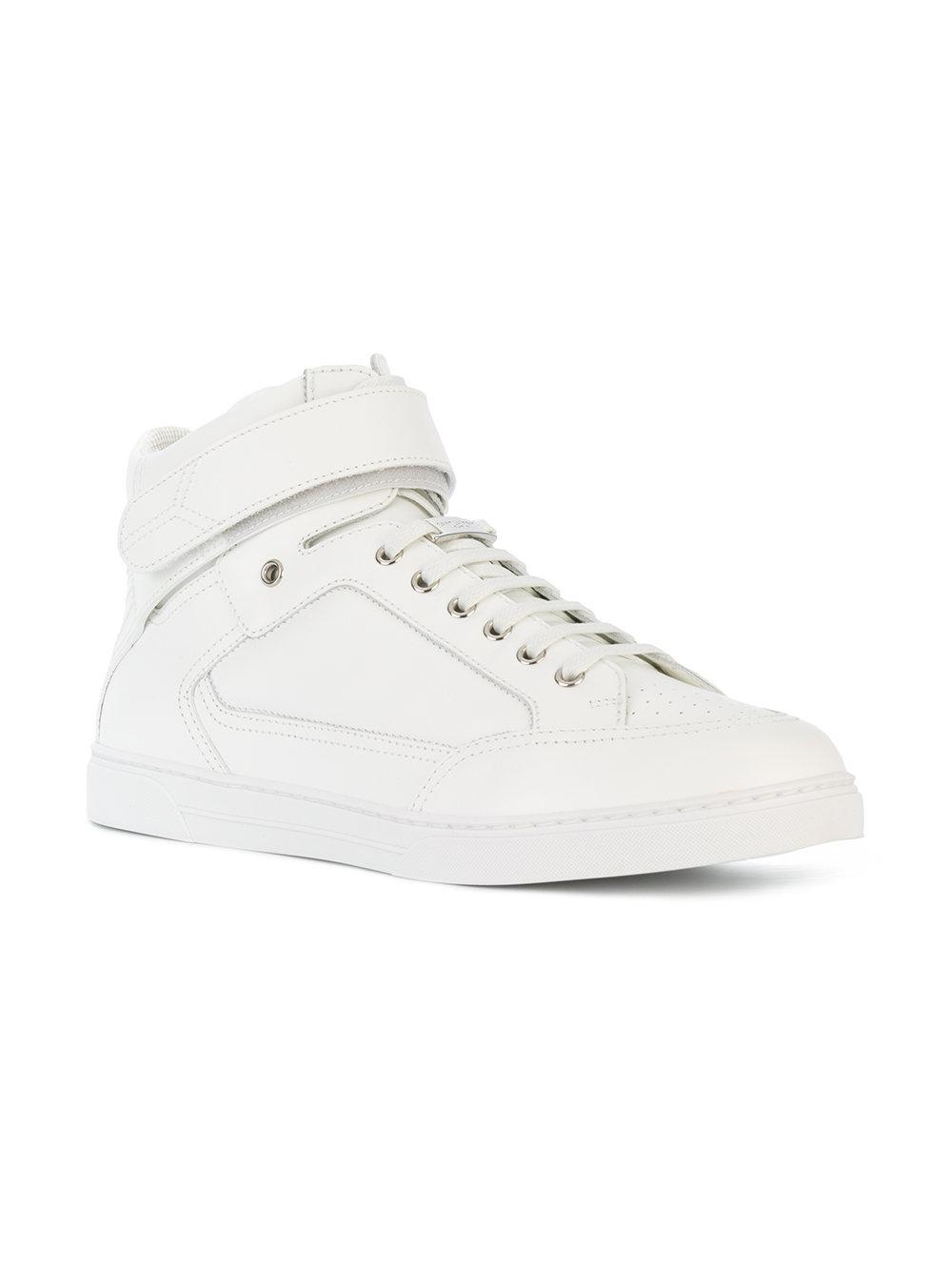 2f103d4c20f9 Lyst - Saint Laurent Max Scratch Mid-top Sneakers in White for Men ...