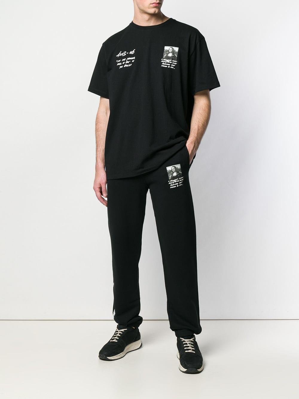 4ae1e4a4334 Lyst - Off-White c o Virgil Abloh Mona Lisa Print T-shirt in Black for Men