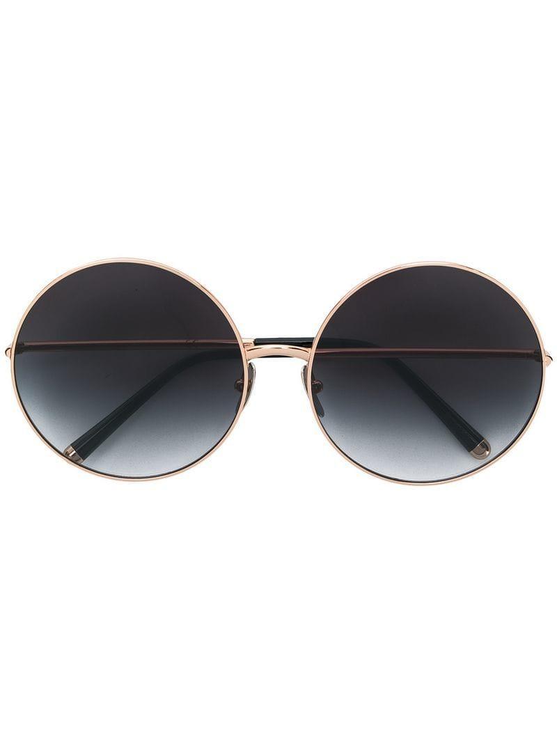 dfacc19fa8ff Dolce   Gabbana. Women s Metallic Limited Edition Clip-on Round Sunglasses