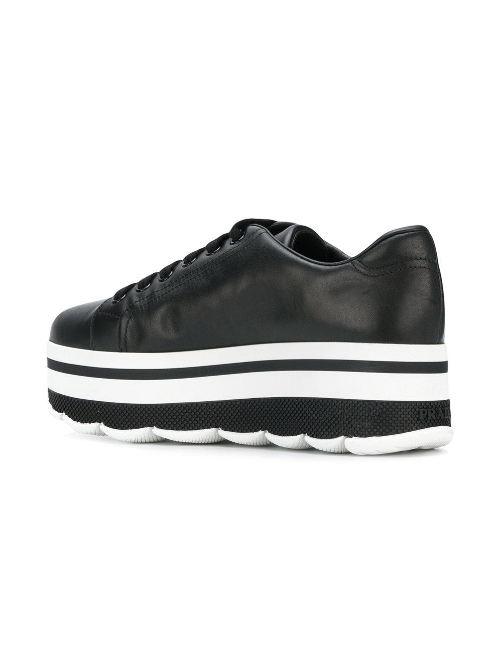 Prada Waved sole platform sneakers E7axE