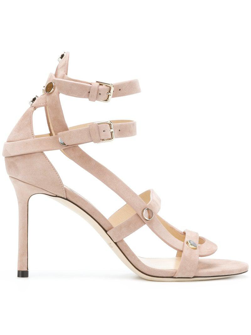 b8c7ed7af1c Jimmy Choo Motoko 85 Sandals in Pink - Lyst