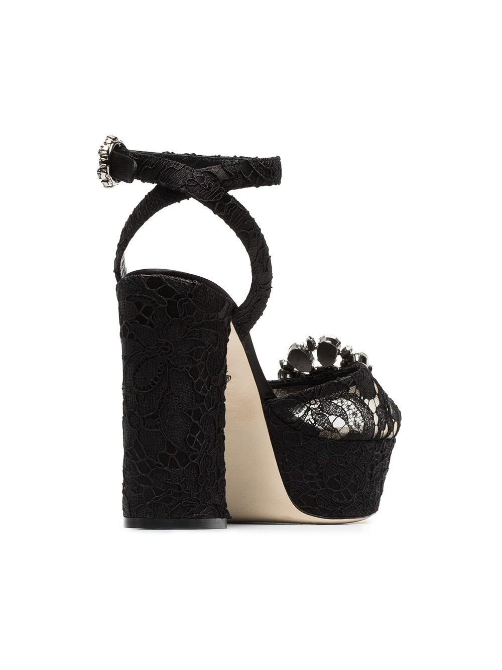 à écran plein amp; Afficher Sandales Keira Lyst plateforme Black 130 en Gabbana Dolce xHIqdP7H