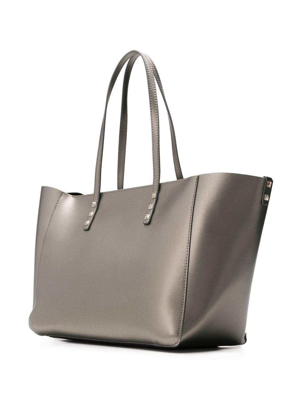 2364f3f8818 Lyst - Marc Ellis Chrissy Studded Tote Bag in Metallic