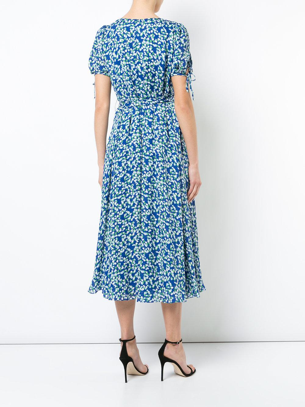 V-neck midi dress - Blue Carolina Herrera Deals For Sale Cheap Sale Good Selling Extremely Best Seller Cheap Price Footaction Online n04m0u