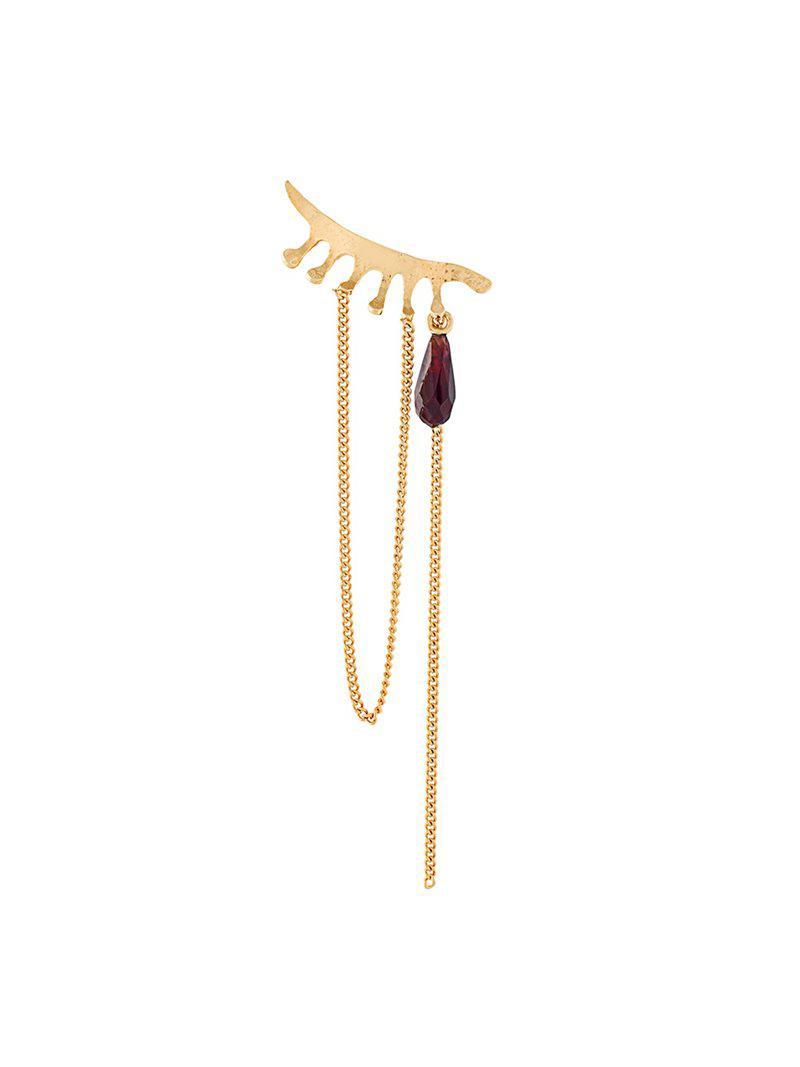 Wouters & Hendrix In Mood For Love garnet chandelier earrings - Metallic nKzC4Yebkv