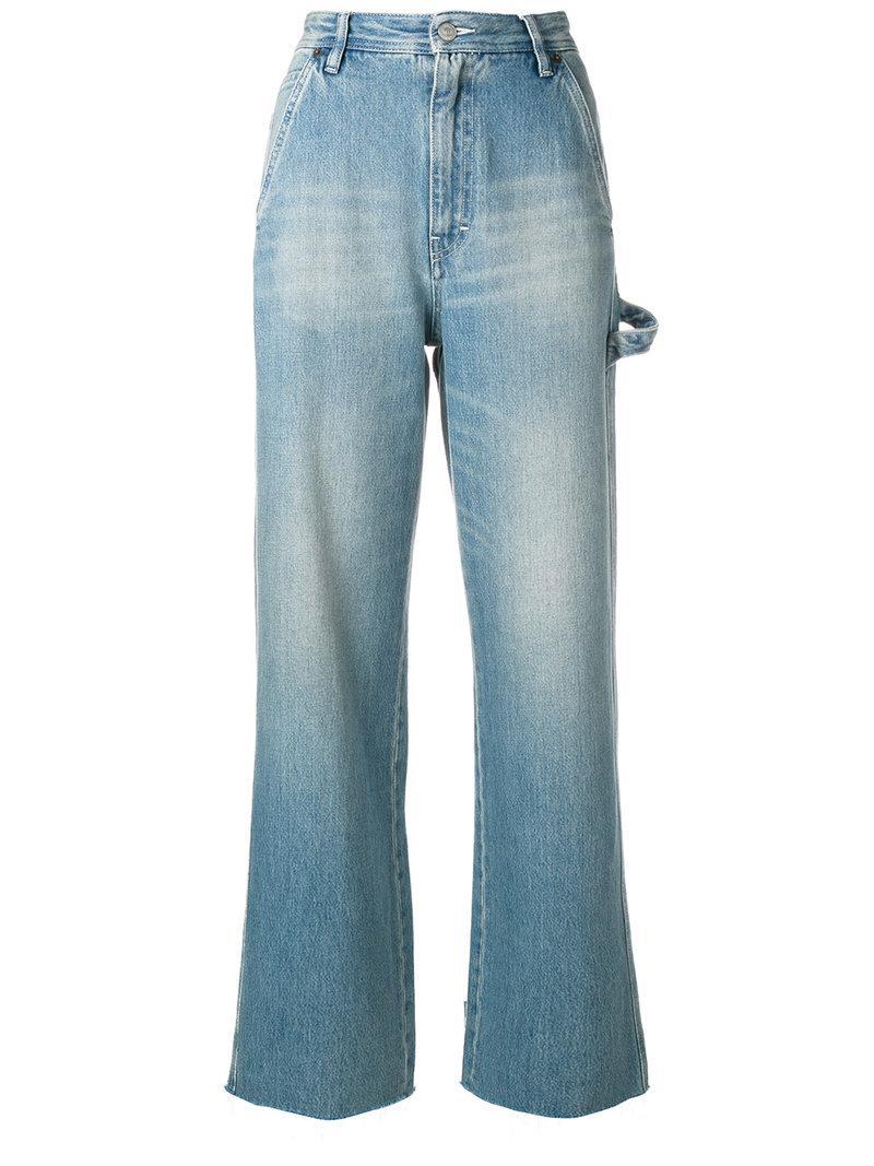 Mm6 Maison Margiela stonewashed belted wide leg jeans Huge Surprise Sale Online Dl7fLVPKv
