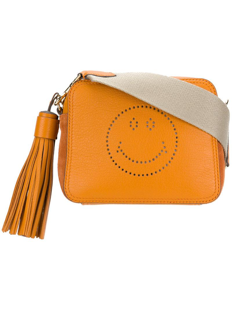 Smiley Crossbody Bag in Manuka Sugar Leather Anya Hindmarch Outlet Amazing Price K0TFT8ci
