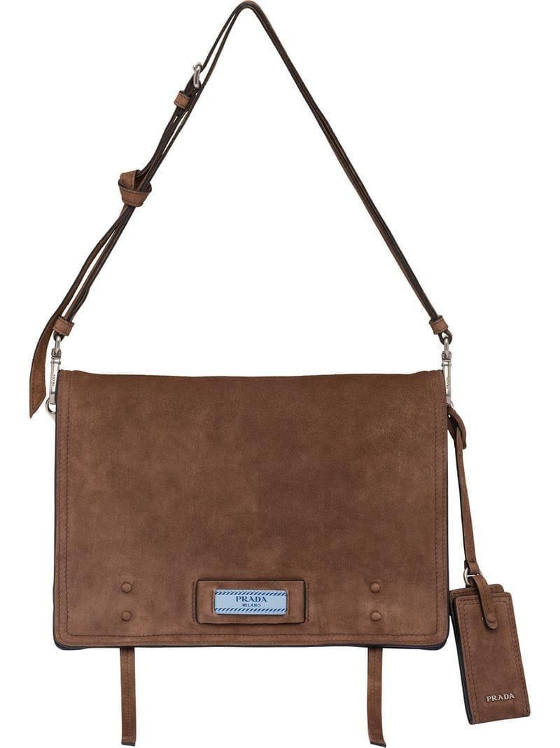 30c2747a30b1 Prada - Brown Etiquette Shoulder Bag - Lyst. View fullscreen