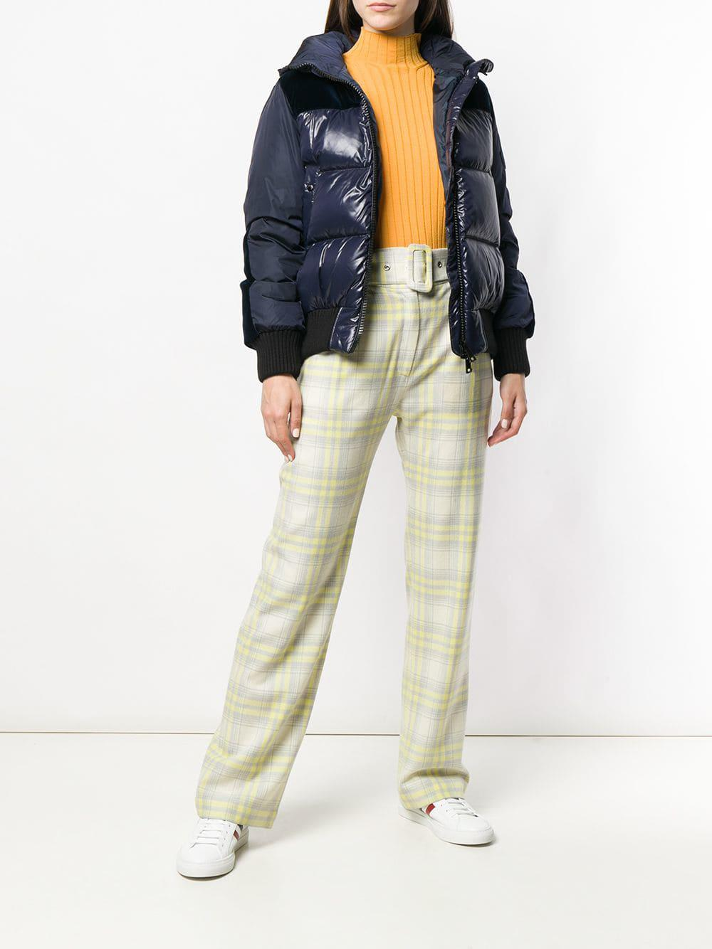 fdf865a5d198 Lyst - Moncler Panelled Puffer Jacket in Blue