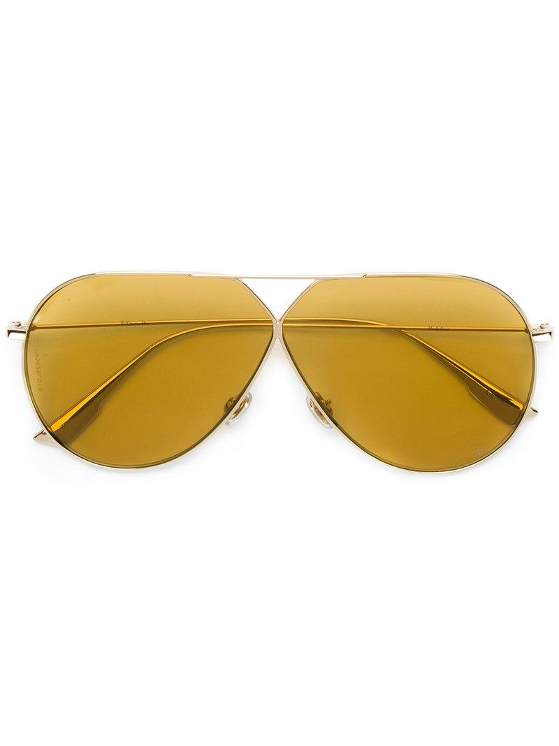 aviator frame tinted sunglasses - Metallic Dior