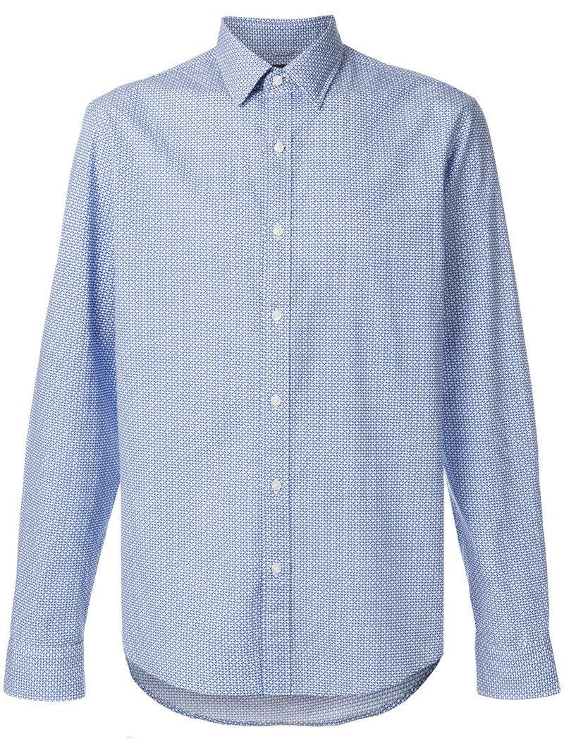 3d6a7746f Lyst - Michael Michael Kors Micro Dot-print Shirt in Blue for Men