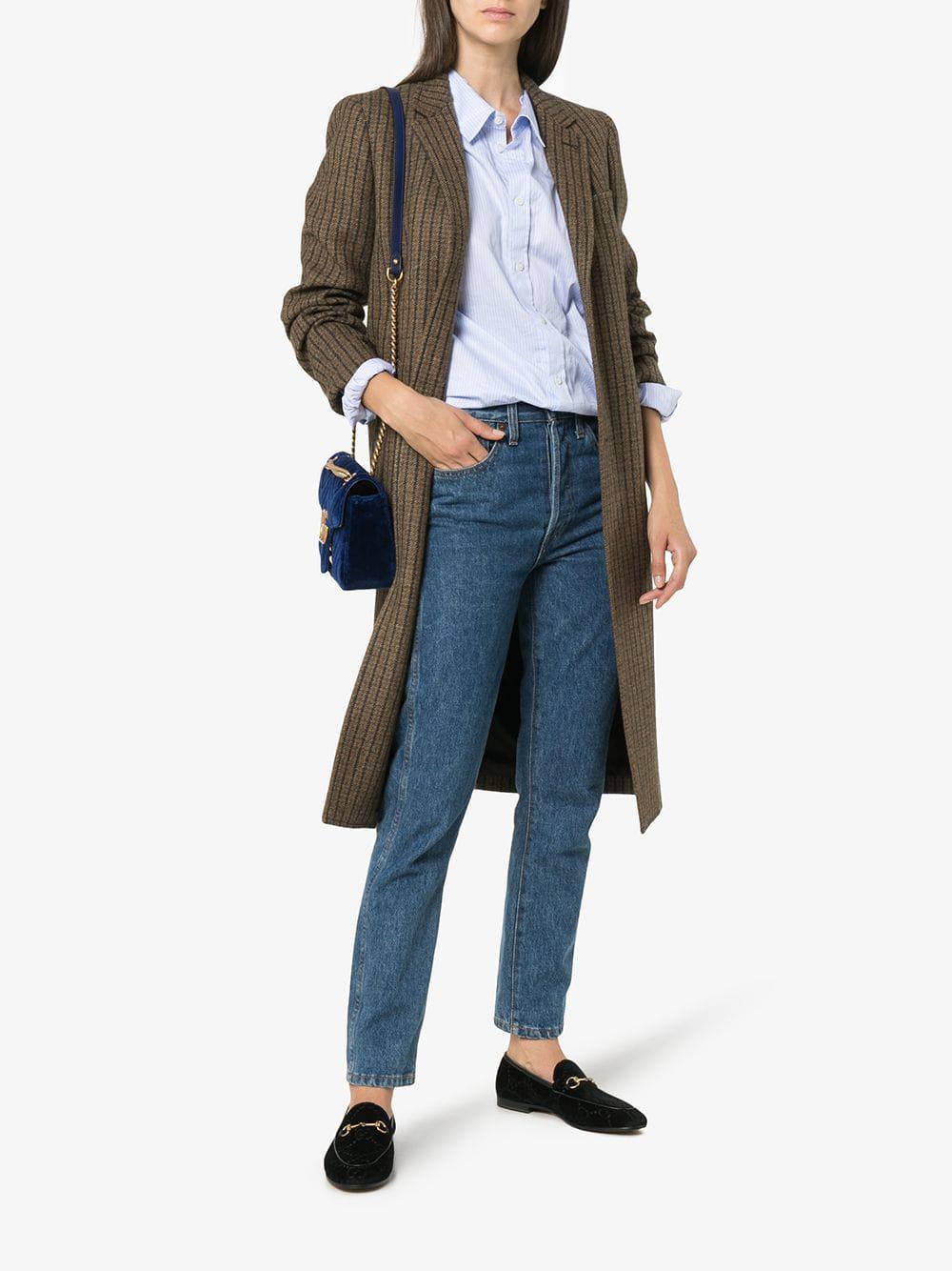 94146067c2d Lyst - Gucci Jordaan GG Velvet Loafers in Black - Save 25%