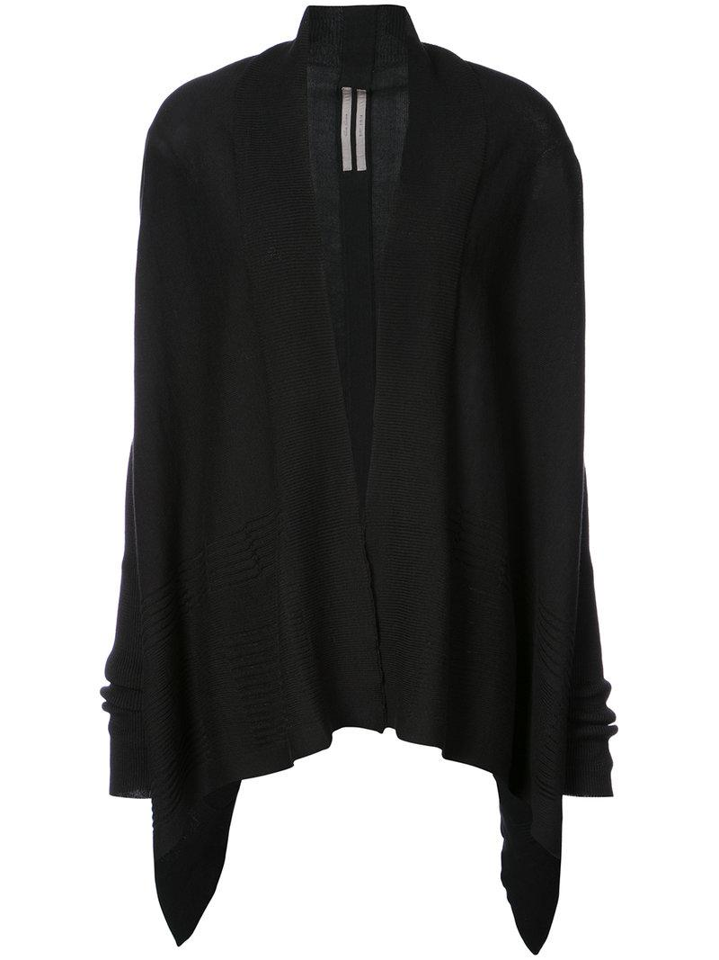 Rick owens Wrap Cardigan in Black | Lyst