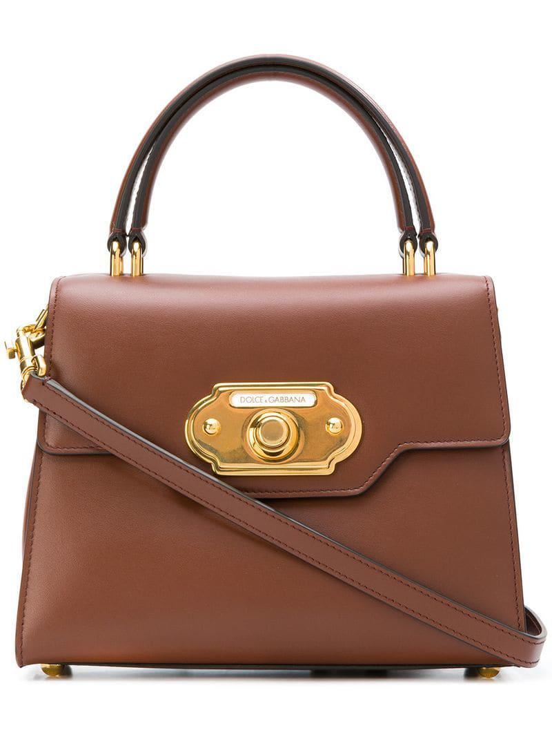 278fbda2f54e Lyst - Dolce   Gabbana Welcome Tote in Brown