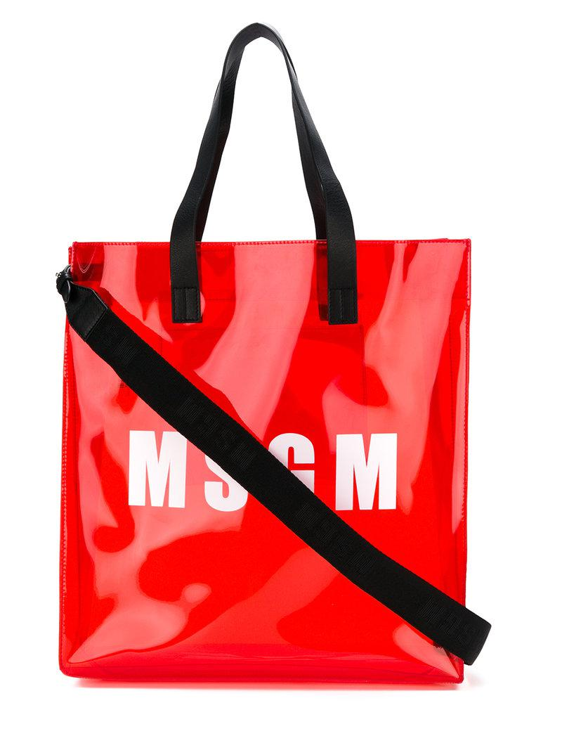 Msgm Sac porté épaule à logo DvSePw