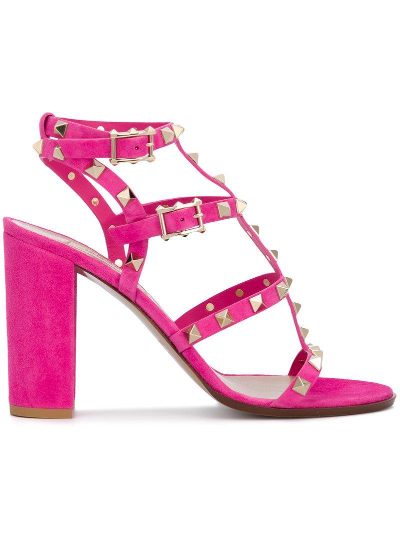 collections Valentinostuds embellished sandals Vente Boutique En Ligne Réel Pas Cher En Ligne Moins Cher La Vente En Ligne Prix Au Pas Cher hrQa2F