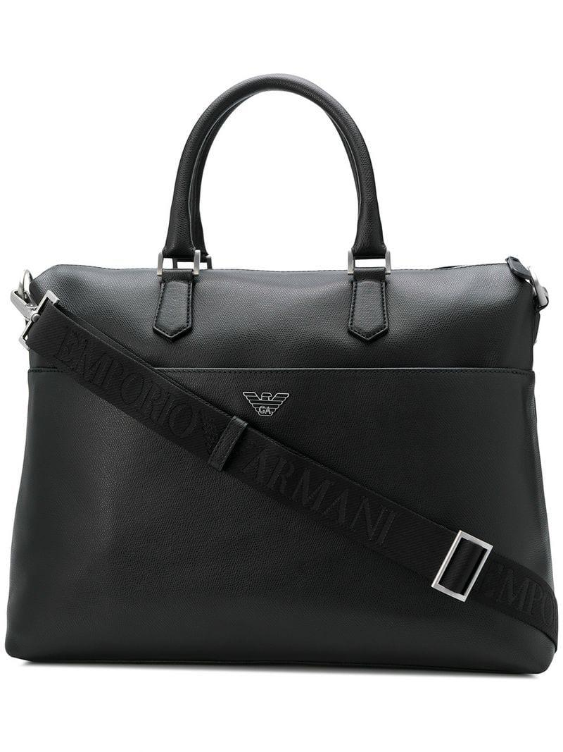 0aa418c4a425 Emporio Armani City Bag in Black for Men - Lyst