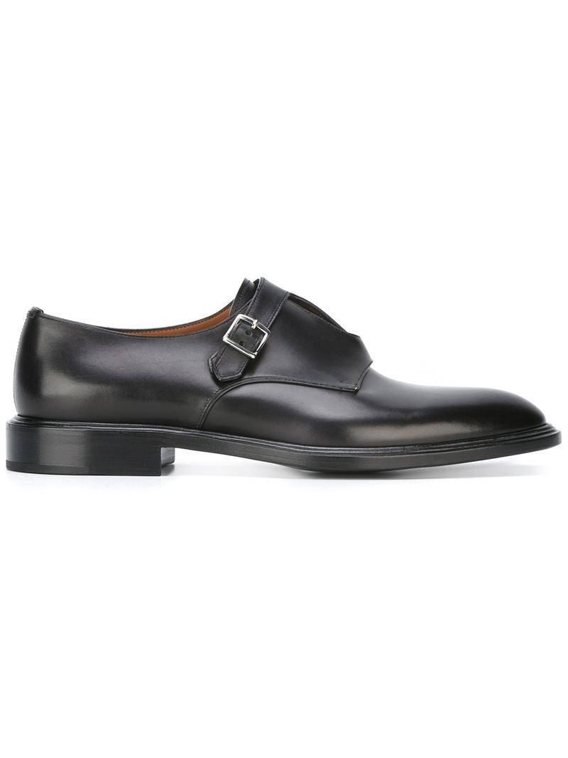 GivenchyDouble buckle monk strap shoes