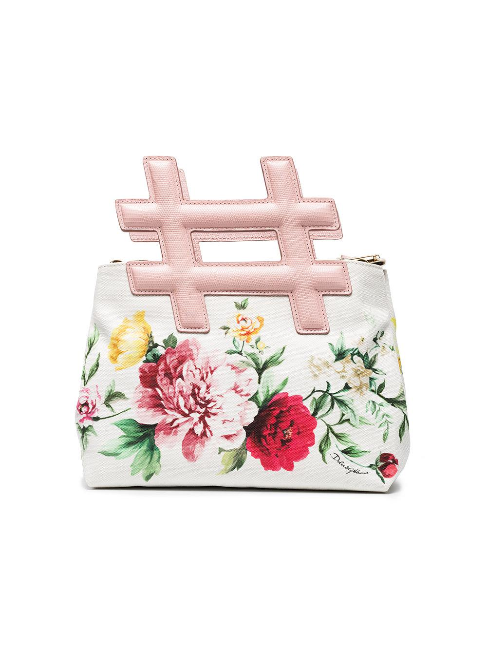 Dolce & Gabbana Sac à main Hashtag à fleurs ckyWmp3Bc