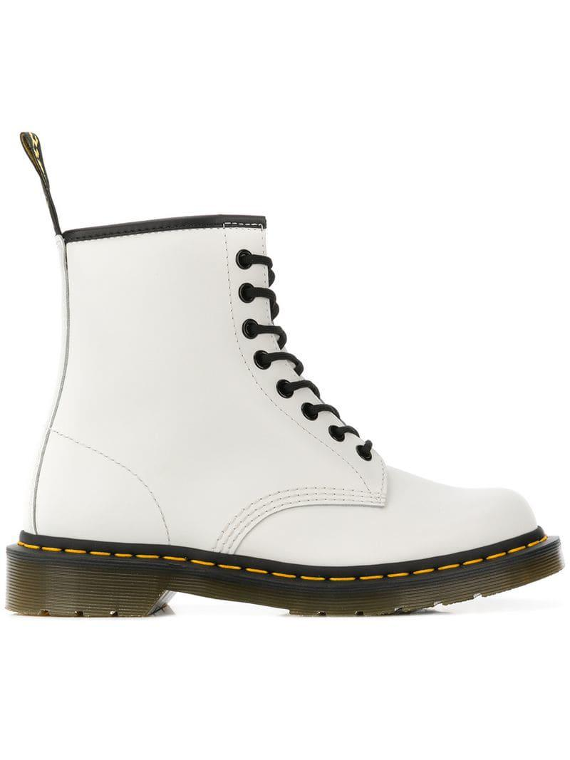 a483e2cca135 Dr. Martens 1460 Lace-up Boots in White - Lyst