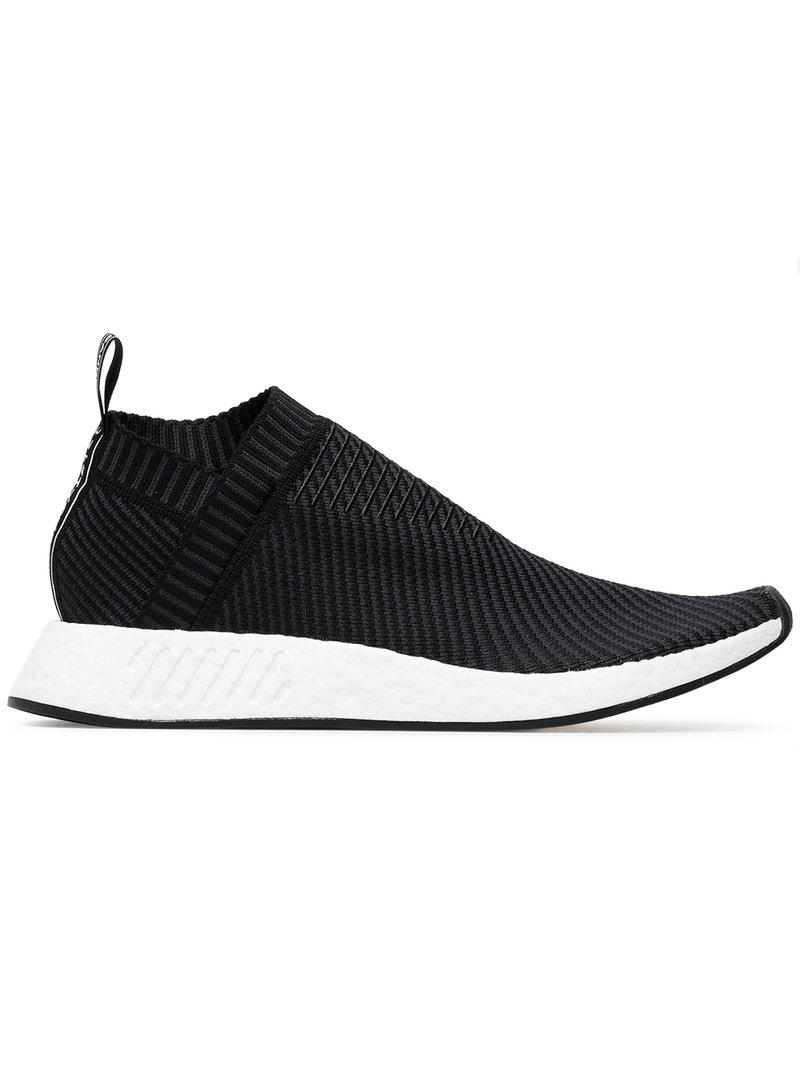 5a2e47237c665 Lyst - adidas Black Nmd Cs2 Primeknit Sneakers in Black for Men ...