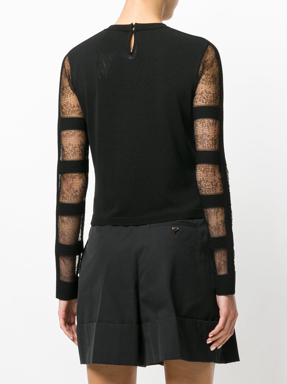 Release Dates Alexander McQueen sheer sleeve blouse Cheap Sale Genuine L2FKl7qF