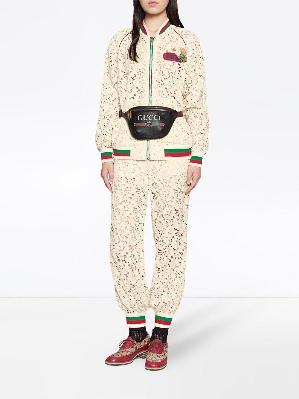 d1cd27f3639 Lyst - Gucci Print Small Belt Bag in Black