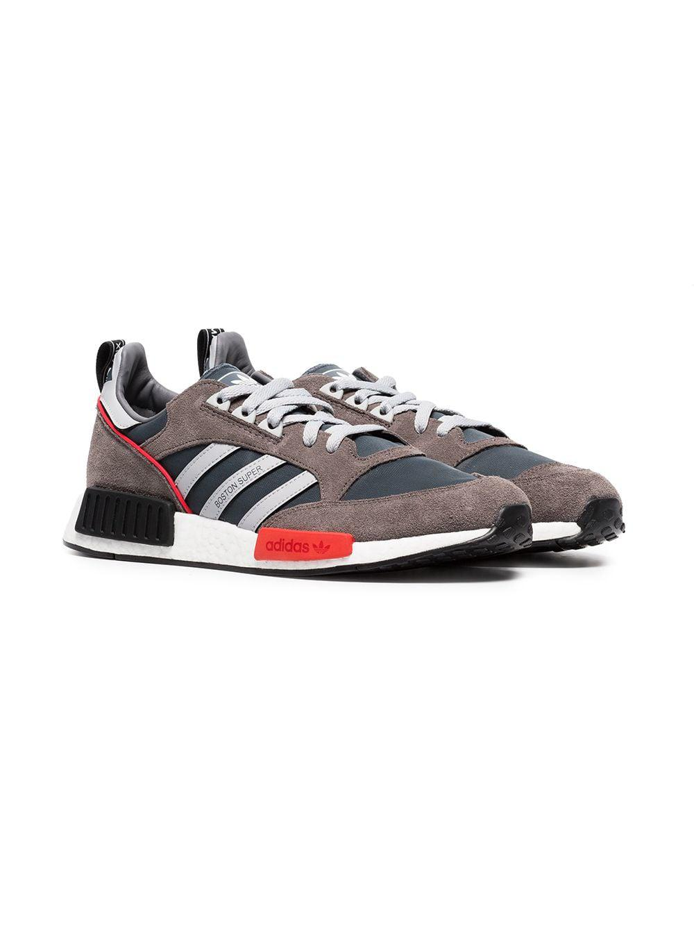 6e4c765d568 Adidas - Gray Never Made Multicoloured Boston Super R1 Suede Sneakers for  Men - Lyst. View fullscreen