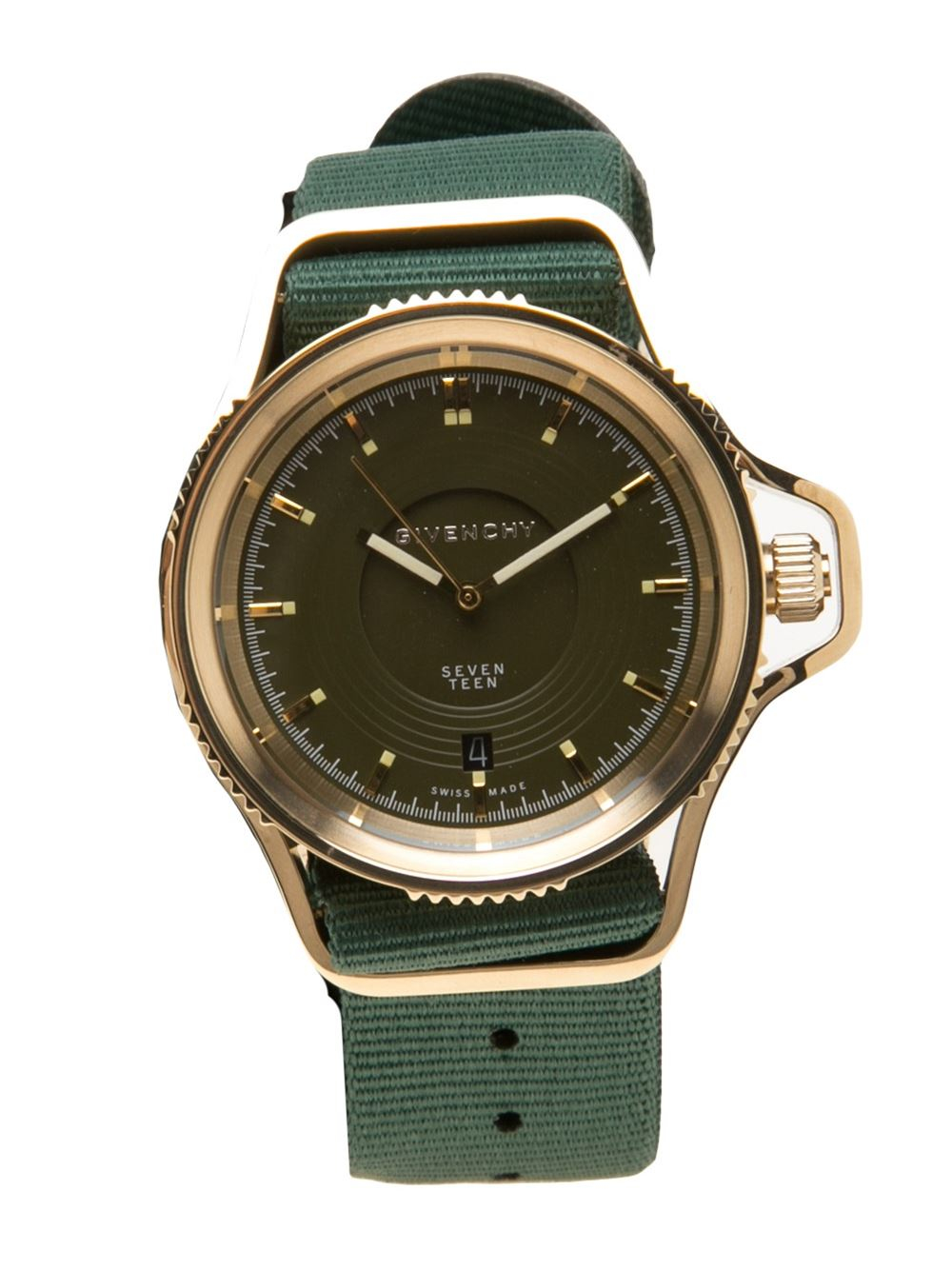 Lyst givenchy 39 seventeen 39 watch in green for Givenchy watches