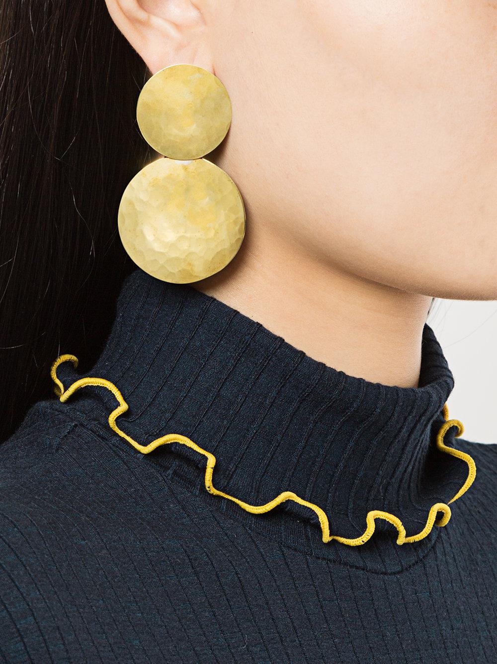 Crescioni Double Terra earrings - Metallic MkOuUILKa