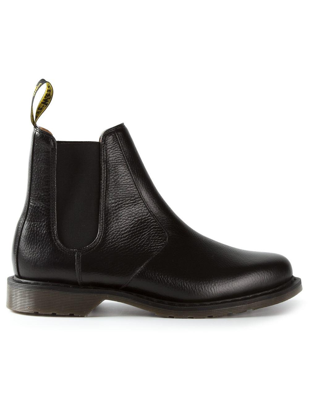 dr martens 39 victor 39 chelsea boot in black for men lyst. Black Bedroom Furniture Sets. Home Design Ideas