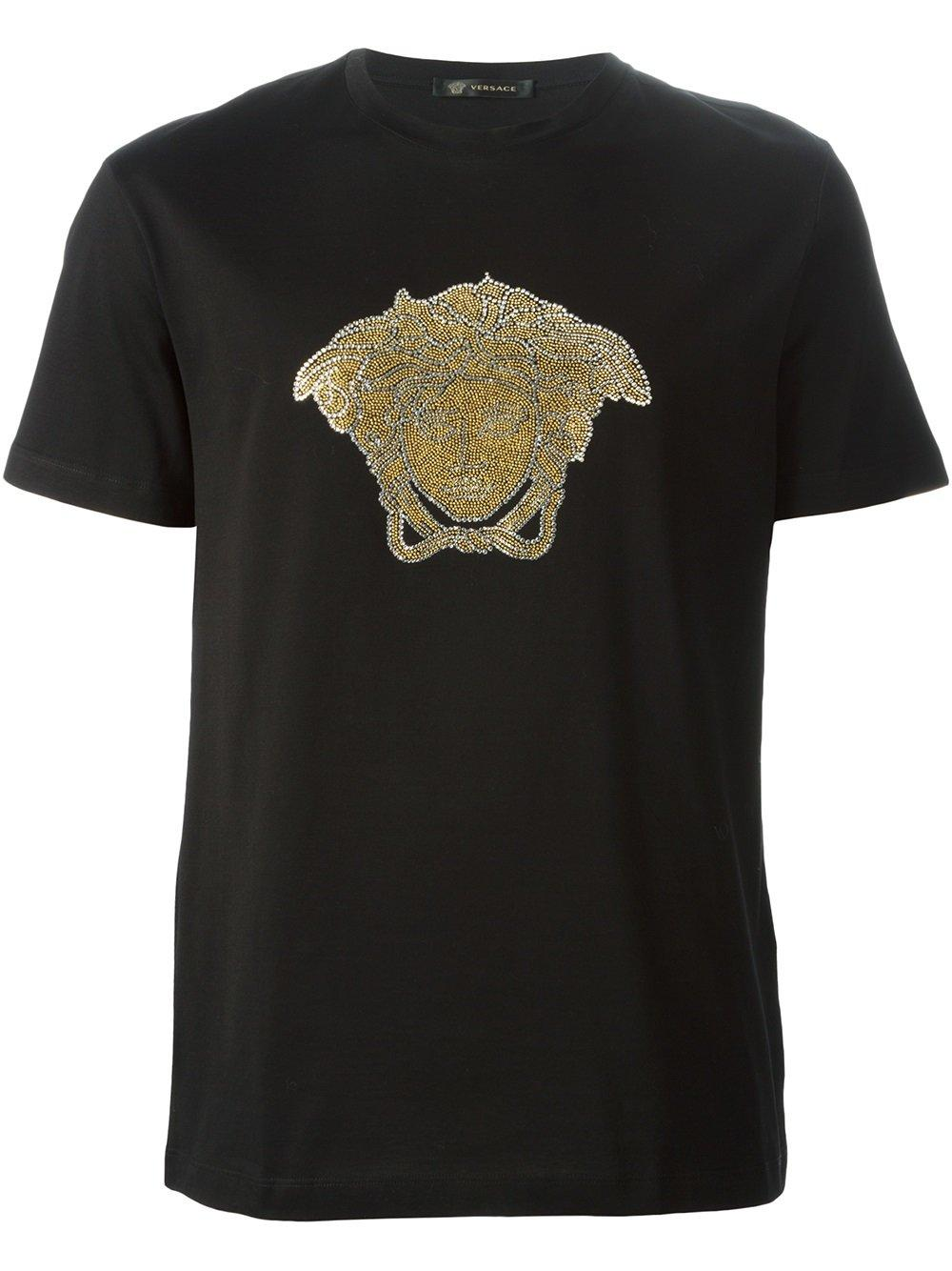 lyst versace medusa t shirt in black for men. Black Bedroom Furniture Sets. Home Design Ideas