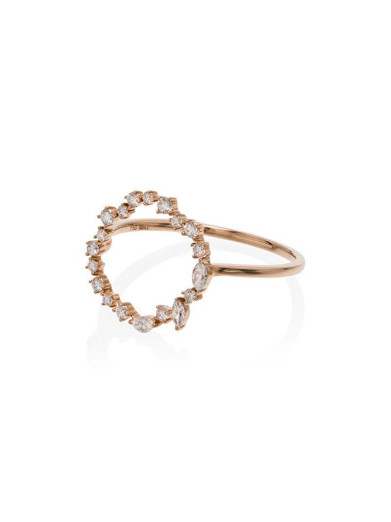 4778dd678228 Rosa De La Cruz. Anillo circular Cascade con diamantes y oro rosa de 18kt  ...