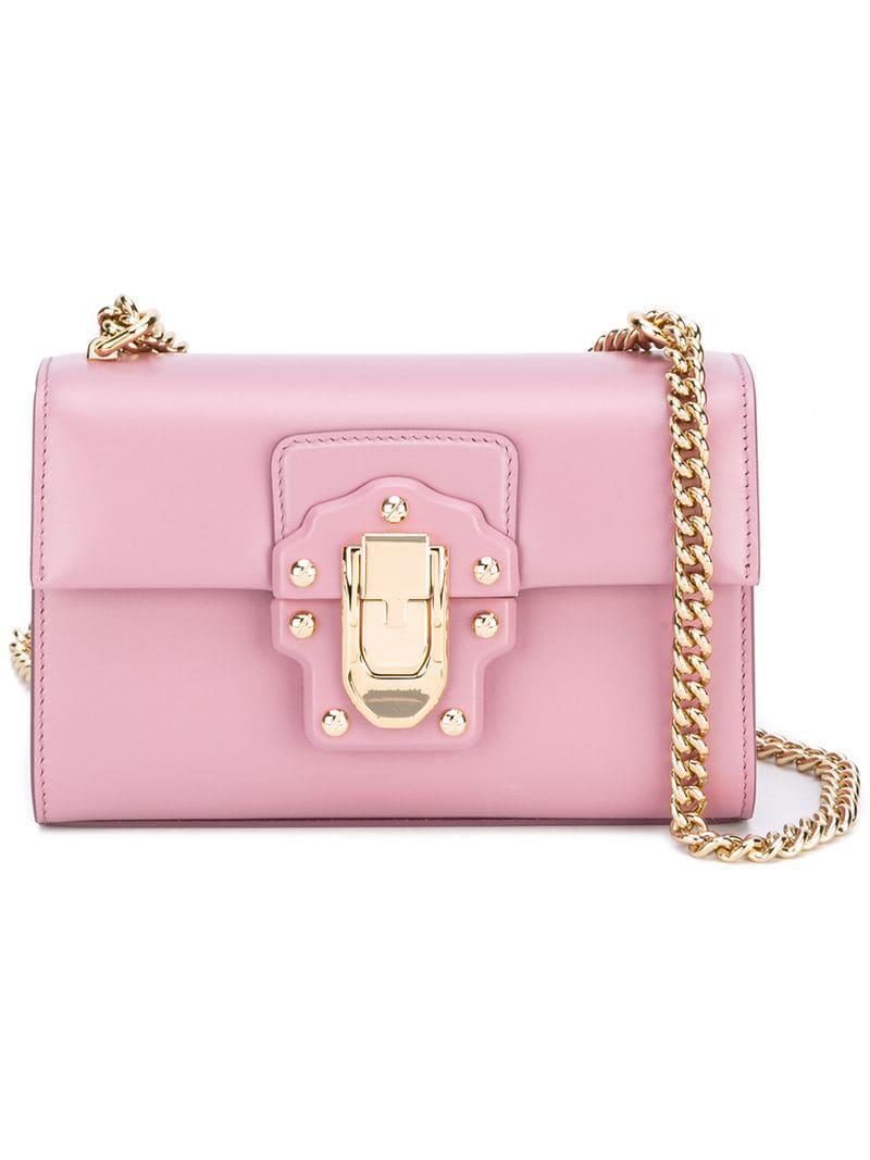 Dolce   Gabbana Lucia Crossbody Bag in Pink - Lyst de762fd5b247d