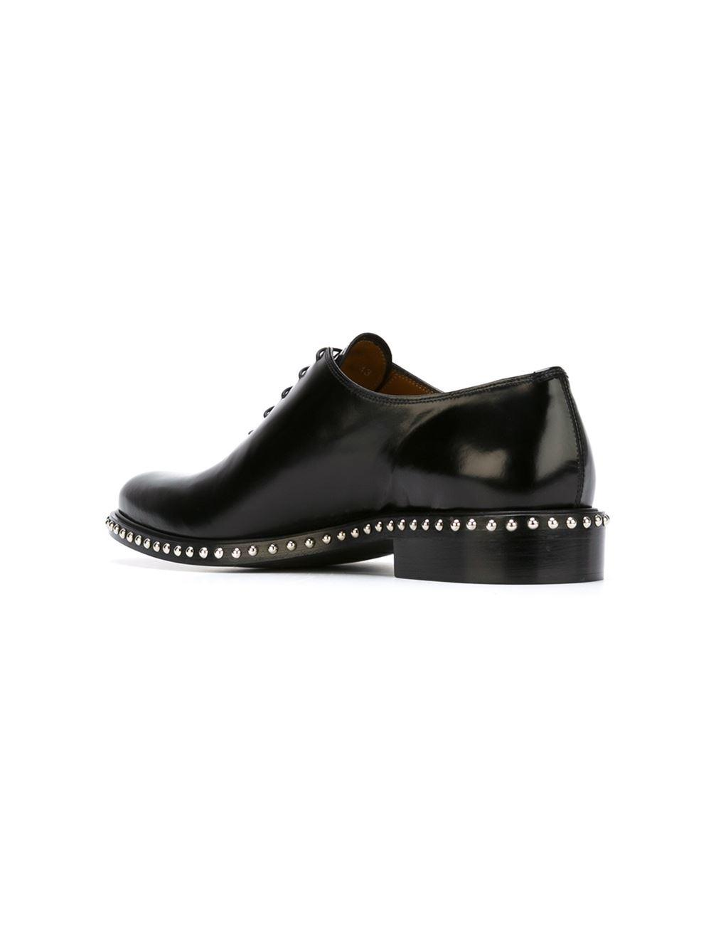 givenchy studded oxford shoes in black for lyst