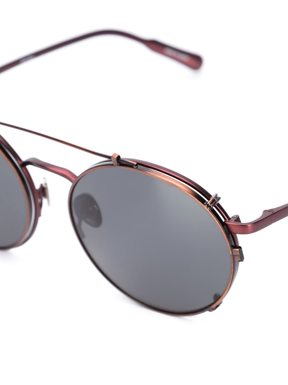Vans Glasses Frame : Kris van assche Round Frame Sunglasses in Black Lyst