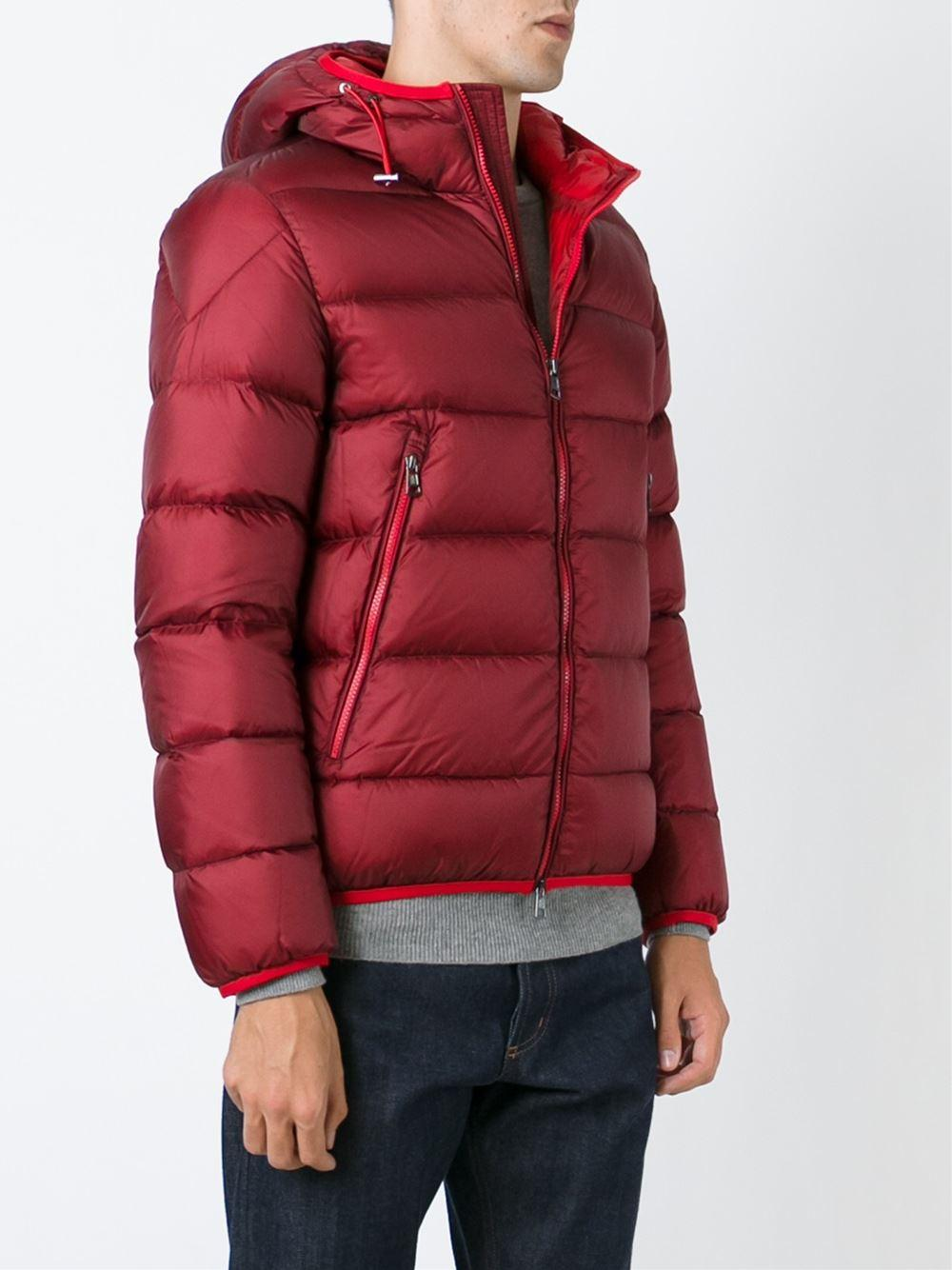 Lyst Moncler Chauvon Bomber Jacket In Red For Men
