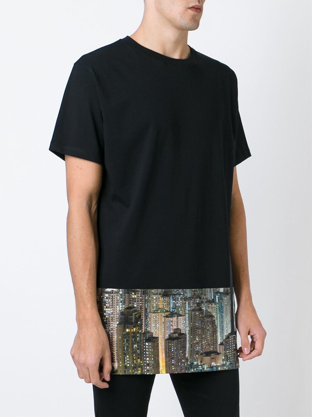 letasca hong kong print t shirt in black for men lyst