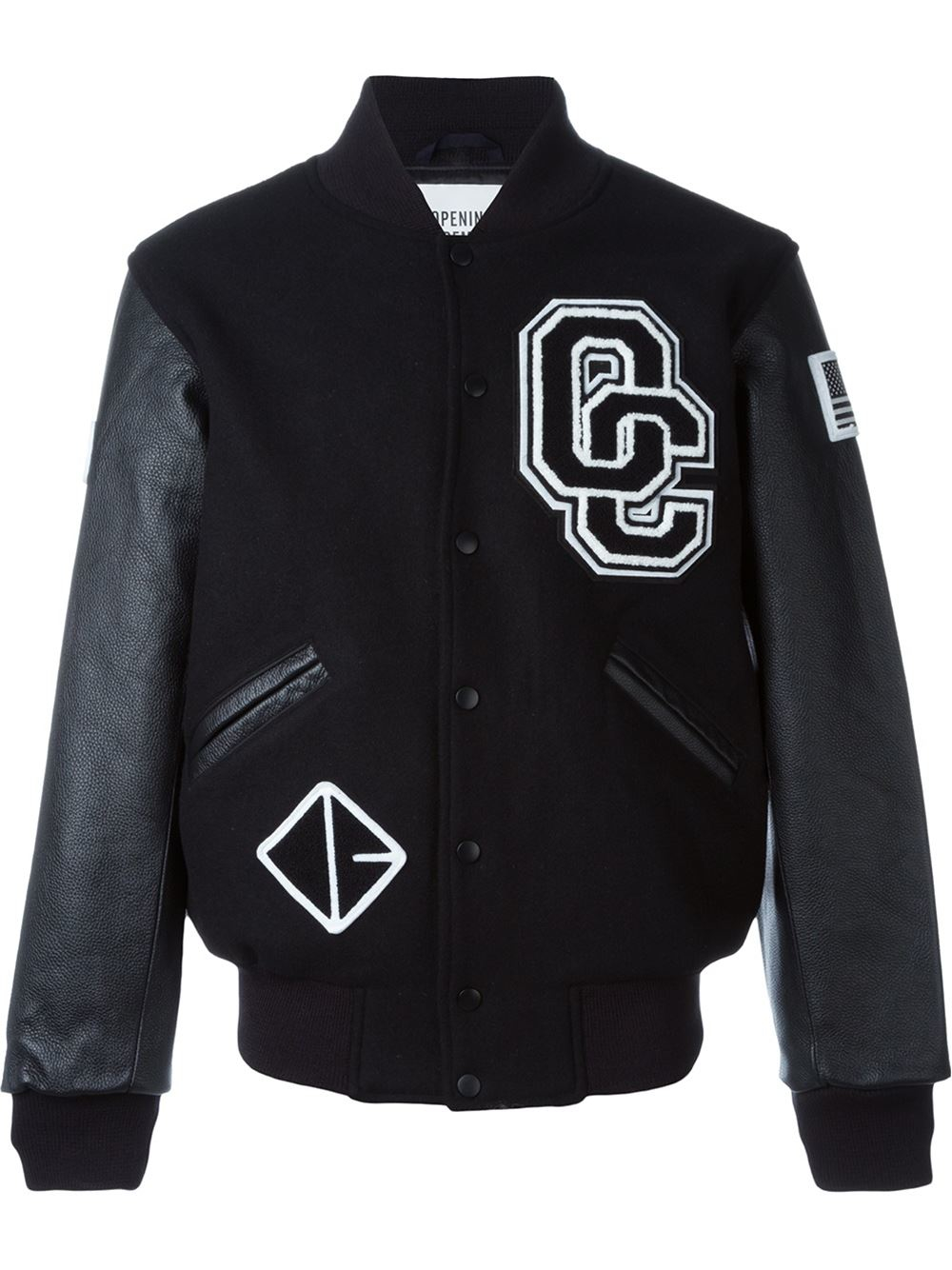 Lyst - Opening Ceremony Baseball Jacket In Black For Men